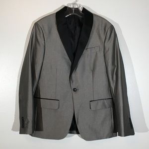 JF J.Ferrar Silver & Black Suit Coat/Jacket - 38S